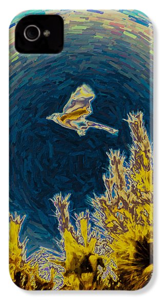 Bluejay Gone Wild IPhone 4 / 4s Case by Trish Tritz