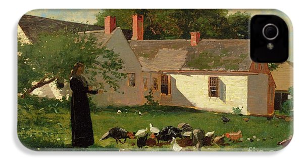 Farmyard Scene IPhone 4 / 4s Case by Winslow Homer