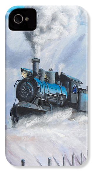 First Train Through IPhone 4 / 4s Case by Christopher Jenkins