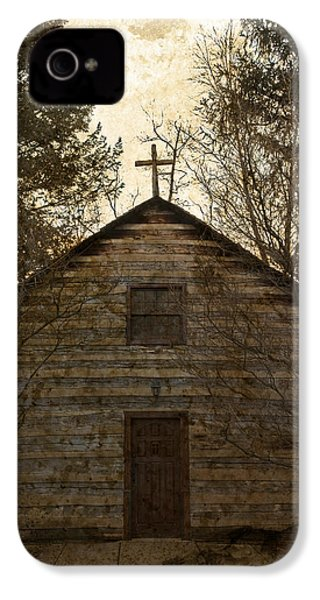 Grungy Hand Hewn Log Chapel IPhone 4 / 4s Case by John Stephens