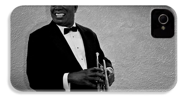 Louis Armstrong Bw IPhone 4 / 4s Case by David Dehner