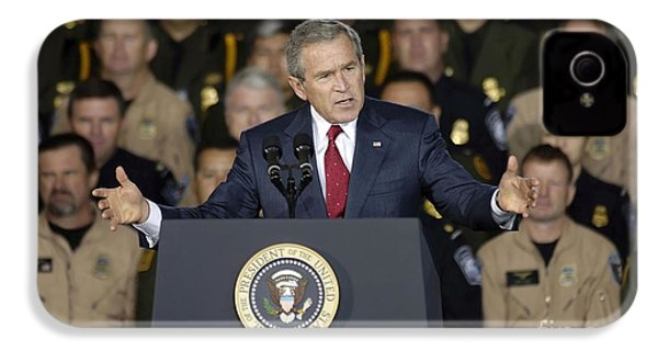 President George W. Bush Speaks IPhone 4 / 4s Case by Stocktrek Images