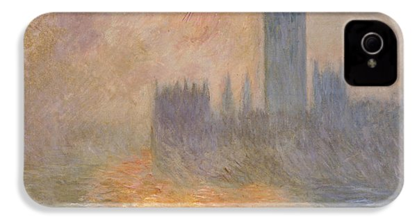 The Houses Of Parliament At Sunset IPhone 4 / 4s Case by Claude Monet