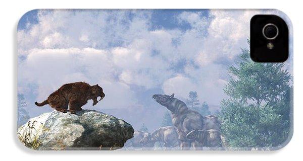 The Paraceratherium Migration IPhone 4 / 4s Case by Daniel Eskridge