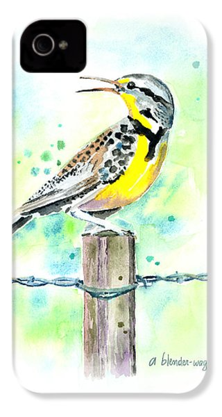 Western Meadowlark IPhone 4 / 4s Case by Arline Wagner