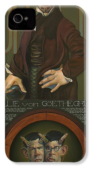 Willie Von Goethegrupf IPhone 4 / 4s Case by Patrick Anthony Pierson