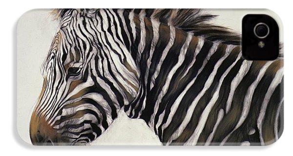 Zebra  IPhone 4 / 4s Case by Odile Kidd