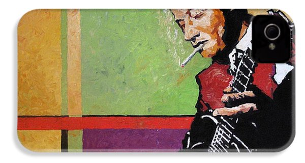 Jazz Guitarist IPhone 4 / 4s Case by Yuriy  Shevchuk