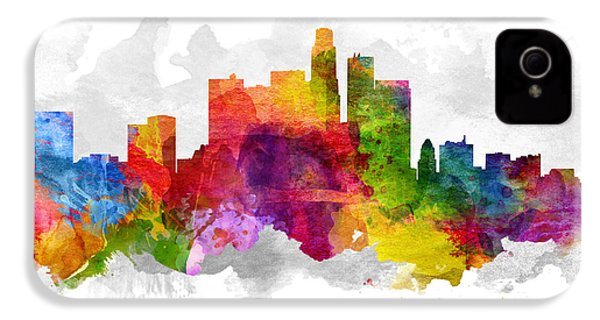 Los Angeles California Cityscape 13 IPhone 4 / 4s Case by Aged Pixel
