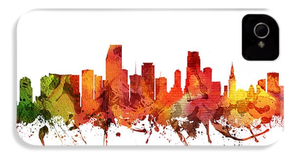 Miami Cityscape 04 IPhone 4 / 4s Case by Aged Pixel
