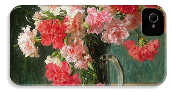 Still Life Of Carnations   IPhone 4 / 4s Case by Emile Vernon