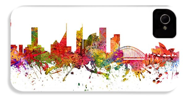 Sydney Australia Cityscape 08 IPhone 4 / 4s Case by Aged Pixel