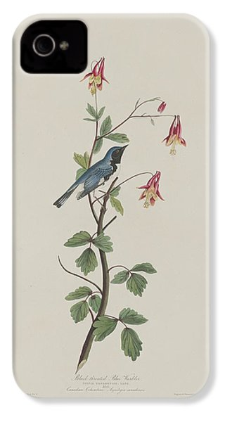 Black-throated Blue Warbler IPhone 4 / 4s Case by John James Audubon