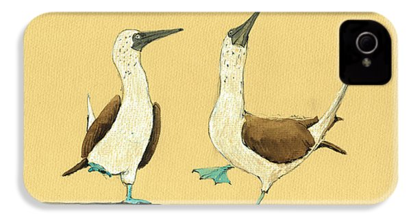 Blue Footed Boobies IPhone 4 / 4s Case by Juan  Bosco