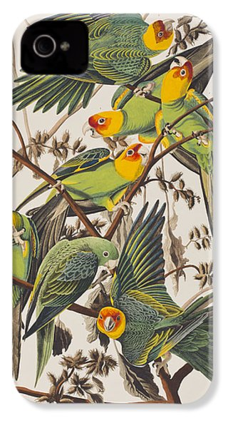 Carolina Parrot IPhone 4 / 4s Case by John James Audubon