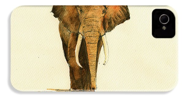 Elephant Watercolor IPhone 4 / 4s Case by Juan  Bosco