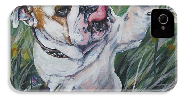 English Bulldog IPhone 4 / 4s Case by Lee Ann Shepard