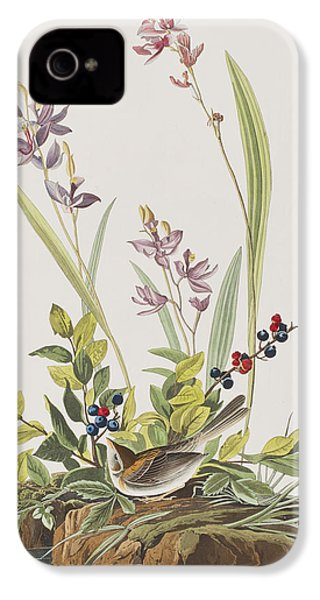 Field Sparrow IPhone 4 / 4s Case by John James Audubon
