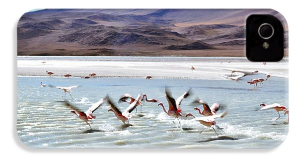 Flying Flamingos IPhone 4 / 4s Case by Sandy Taylor