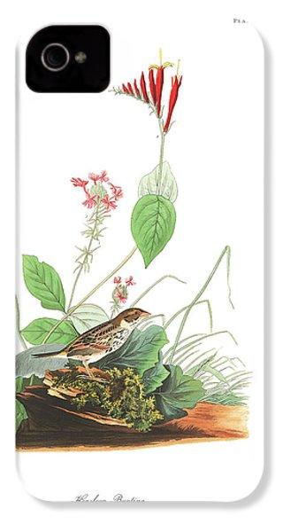 Henslow's Bunting  IPhone 4 / 4s Case by John James Audubon