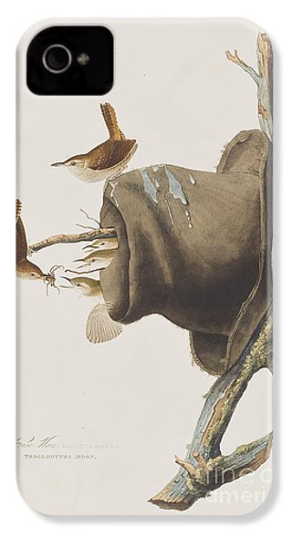 House Wren IPhone 4 / 4s Case by John James Audubon