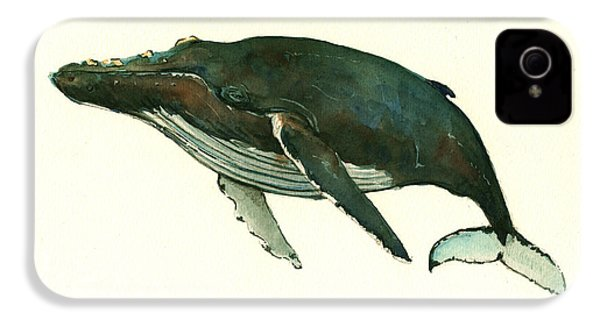 Humpback Whale  IPhone 4 / 4s Case by Juan  Bosco
