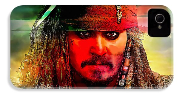 Johnny Depp Painting IPhone 4 / 4s Case by Marvin Blaine