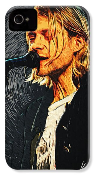 Kurt Cobain IPhone 4 / 4s Case by Taylan Apukovska
