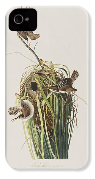 Marsh Wren  IPhone 4 / 4s Case by John James Audubon