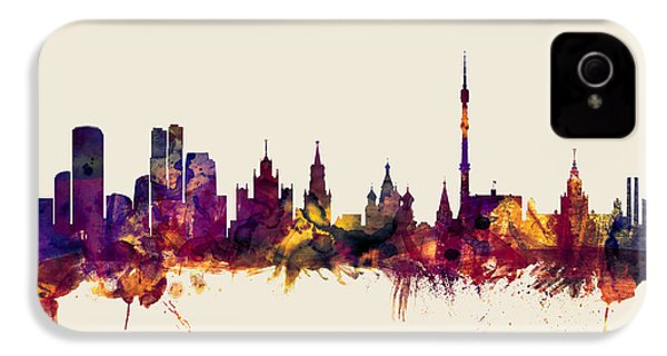 Moscow Russia Skyline IPhone 4 / 4s Case by Michael Tompsett