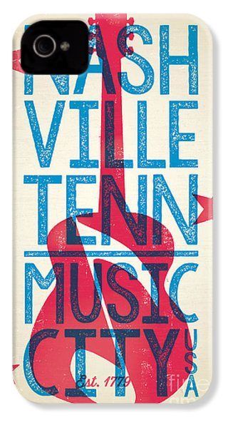 Nashville Tennessee Poster IPhone 4 / 4s Case by Jim Zahniser