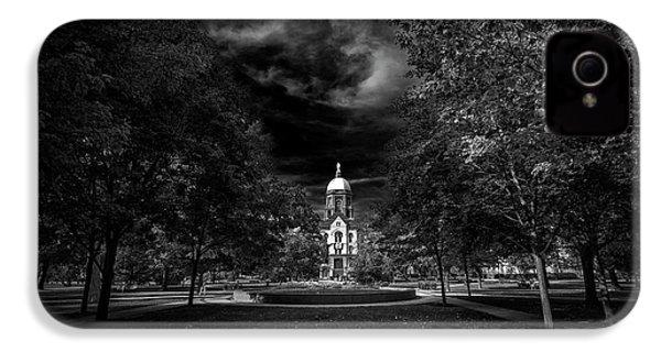 Notre Dame University Black White IPhone 4 / 4s Case by David Haskett