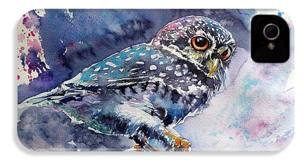 Owl At Night IPhone 4 / 4s Case by Kovacs Anna Brigitta