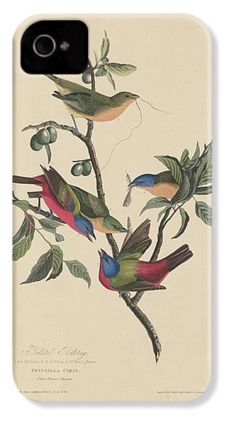 Painted Bunting IPhone 4 / 4s Case by John James Audubon