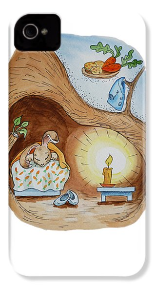 Peter Rabbit And His Dream IPhone 4 / 4s Case by Irina Sztukowski