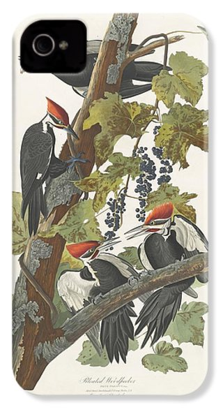 Pileated Woodpecker IPhone 4 / 4s Case by John James Audubon