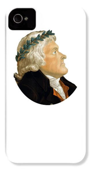 President Thomas Jefferson IPhone 4 / 4s Case by War Is Hell Store