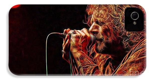 Robert Plant Led Zeppelin IPhone 4 / 4s Case by Marvin Blaine