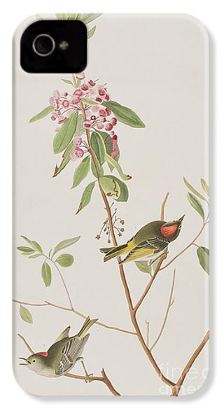 Ruby Crowned Wren IPhone 4 / 4s Case by John James Audubon