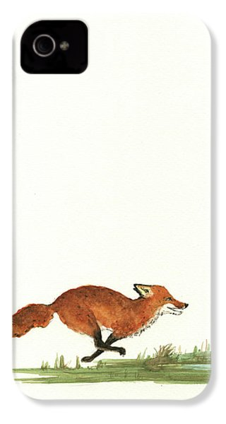 The Fox And The Pelicans IPhone 4 / 4s Case by Juan Bosco