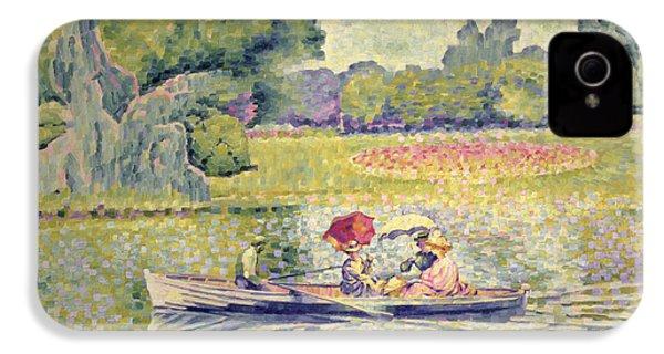 The Promenade In The Bois De Boulogne IPhone 4 / 4s Case by Henri-Edmond Cross
