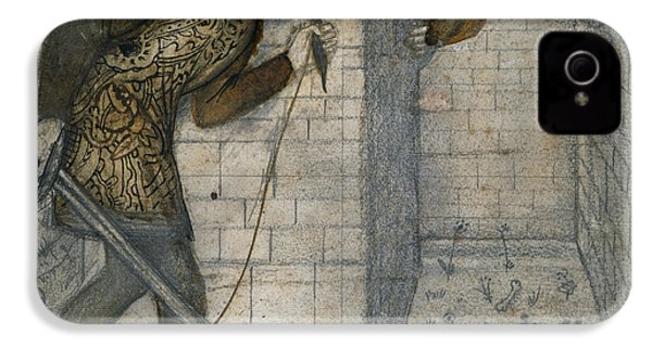Theseus And The Minotaur In The Labyrinth IPhone 4 / 4s Case by Edward Burne-Jones