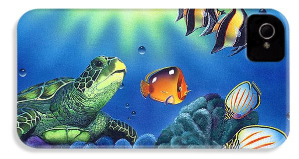 Turtle Dreams IPhone 4 / 4s Case by Angie Hamlin
