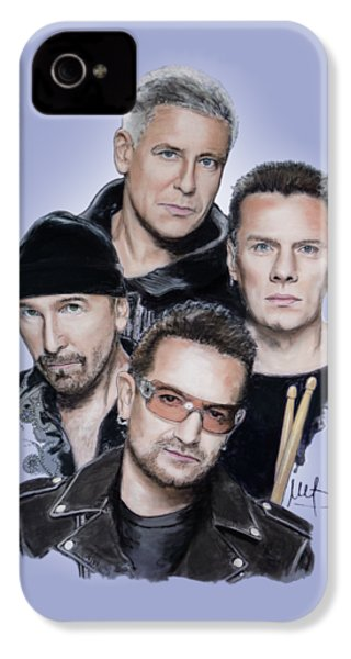 U2 IPhone 4 / 4s Case by Melanie D