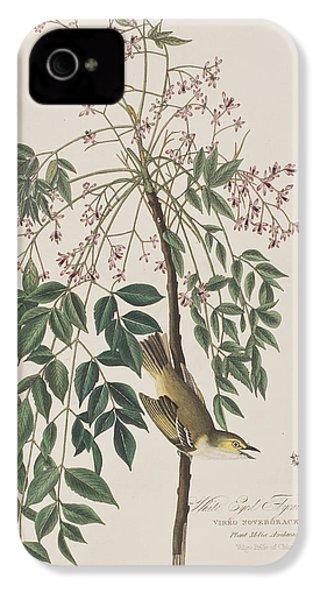 White-eyed Flycatcher IPhone 4 / 4s Case by John James Audubon