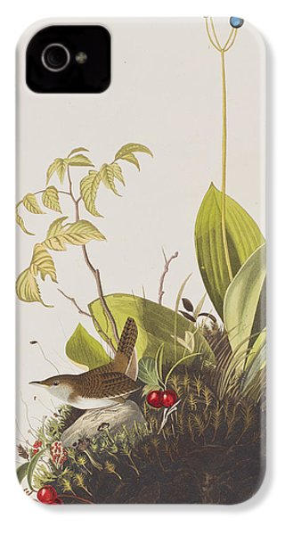 Wood Wren IPhone 4 / 4s Case by John James Audubon