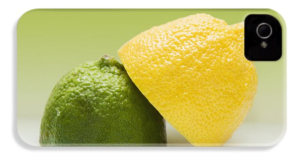 12 Organic Lemon And 12 Lime IPhone 4 / 4s Case by Marlene Ford
