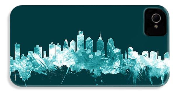 Philadelphia Pennsylvania Skyline IPhone 4 / 4s Case by Michael Tompsett