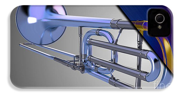 Trombone Collection IPhone 4 / 4s Case by Marvin Blaine
