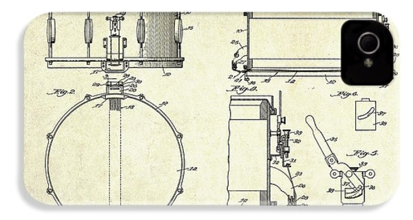 1939 Slingerland Snare Drum Patent Sheets IPhone 4 / 4s Case by Gary Bodnar